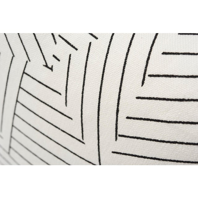 Contemporary Schumacher Pillow in Deconstructed Stripe Double-Sided Print For Sale - Image 3 of 8