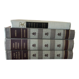 Vintage Books in Gray Tones - Set of 4 For Sale