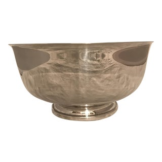 "10"" Paul Revere Style Silverplate Bowl"