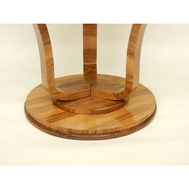 1930s Art Deco Round Tulip Shaped Side Table For Sale - Image 5 of 6