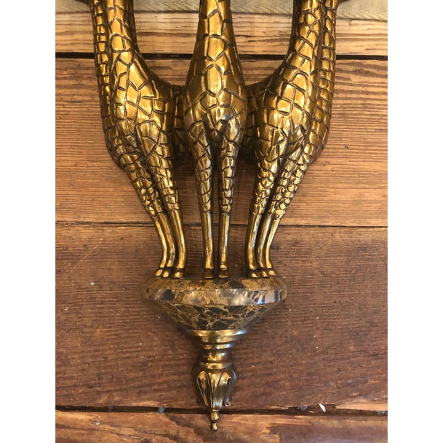 Maitland - Smith 1990s Vintage Eye-Catching Giraffe Motiffe Brackets by Maitland Smith- A Pair For Sale - Image 4 of 12