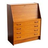 Image of 1960s Danish Modern Dyrlund Teak Secretary Desk For Sale