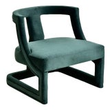 """Image of Modern """"Leo"""" Hunter Green Club Chair For Sale"""