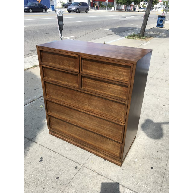 1950s Mid Century Modern Triangle Brand Mahogany Highboy For Sale - Image 11 of 12