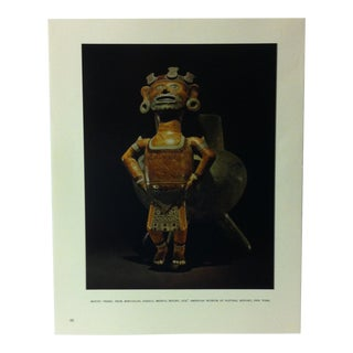 """Circa 1960 """"Mixtec Vessel From Mihuatlan"""" Treasures of Ancient America Mounted Print For Sale"""