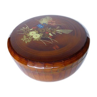 Japanese Faux Bamboo Storage Container For Sale
