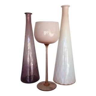 Cased Pastel Vessels - Set of 3 For Sale