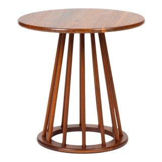 Round Walnut Side Table by Arthur Umanoff for Washington Woodcraft For Sale