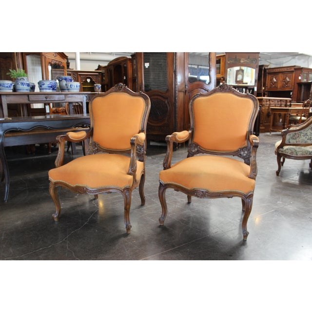 Antique Louis XV Style Armchair - a Pair For Sale - Image 13 of 13