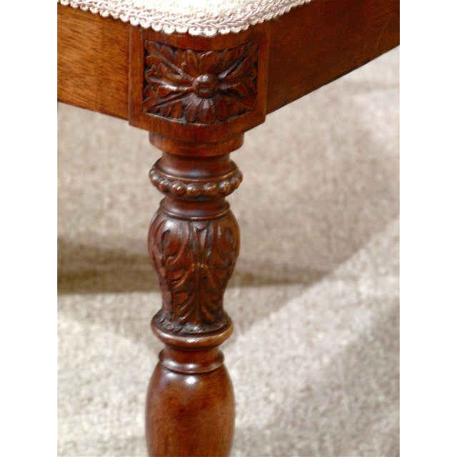 19th Century French Walnut Square Back Chairs - a Pair - Image 4 of 9