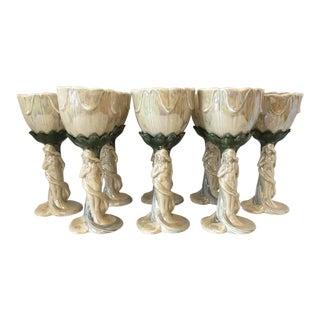 Art Nouveau Style Glasses/8 For Sale