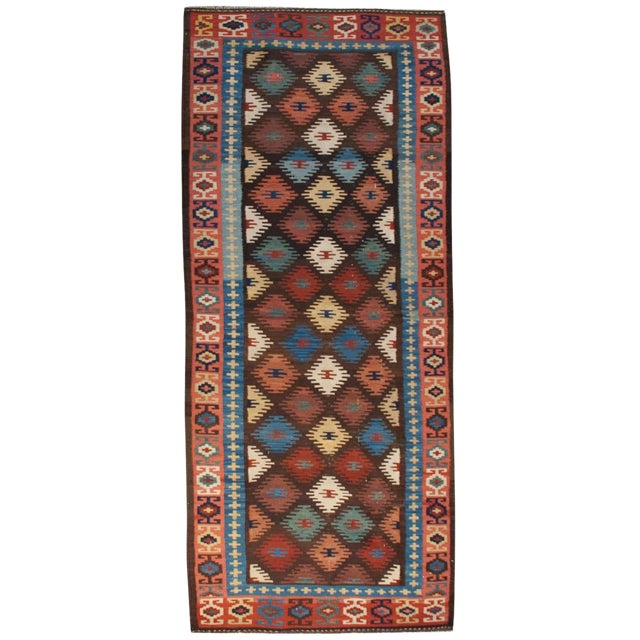 "Early 20th Century Harseen Kilim Runner - 38"" x 99"" For Sale"