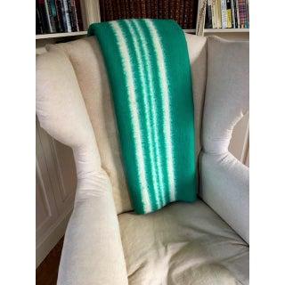 Vintage Mid Century Rustic Heavy Wool Striped Blanket Preview