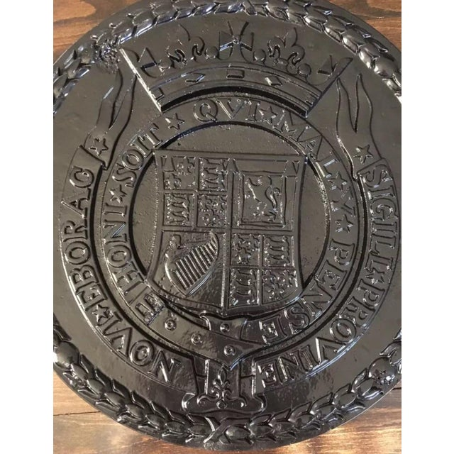 Americana Cast Iron Urban Americana West Side Highway Roundel Medallion Seal For Sale - Image 3 of 8