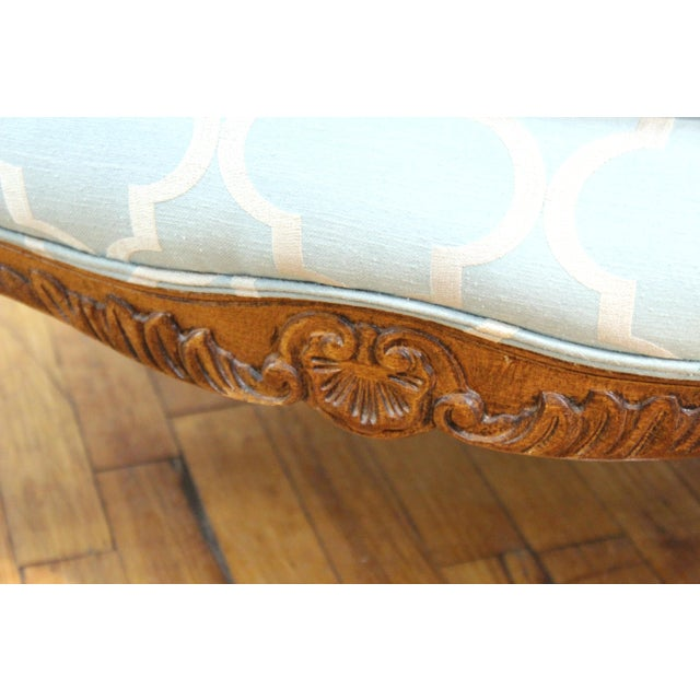 French Louis XV Provincial Style Bergere Chairs For Sale - Image 10 of 11