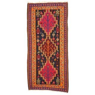 Vintage Persian Kilim Gallery Rug - 5′3″ × 11′3″ For Sale