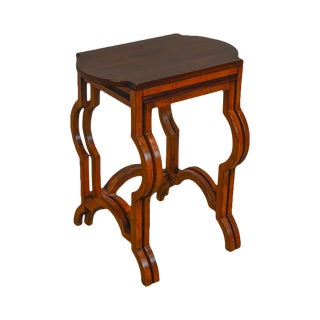 Baker Milling Road Mahogany Keystone Nesting Tables For Sale