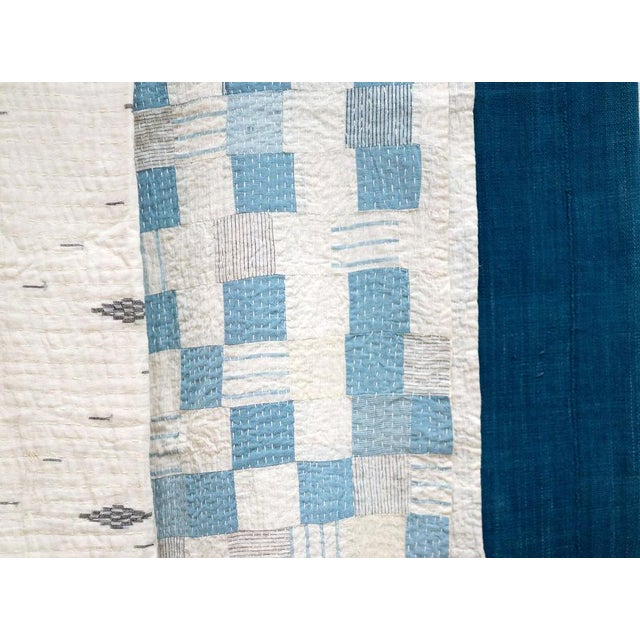 Boro Patchwork Quilt Throw Blanket For Sale In San Francisco - Image 6 of 7