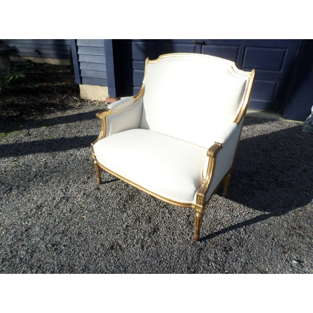 Louis XVI Style Giltwood Settee For Sale - Image 13 of 13