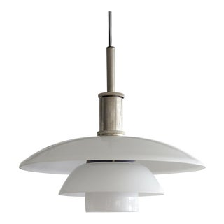 White Poul Henningsen, Ph 4½/4 Pendant Light For Sale