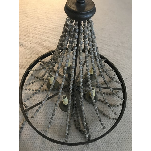 Rustic Rustic French Country Beaded Chandelier For Sale - Image 3 of 7