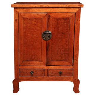 Tall Antique Natural Color, Lacquered Cabinet From China, 19th Century For Sale
