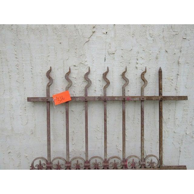Victorian Antique Victorian Iron Gate Window Garden Fence Architectural Salvage Door #316 For Sale - Image 3 of 5