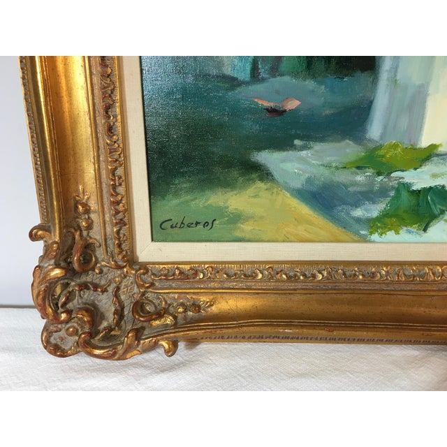 Vintage Still Life With Flowers Oil Painting by Manuel Cuberos For Sale In Atlanta - Image 6 of 12