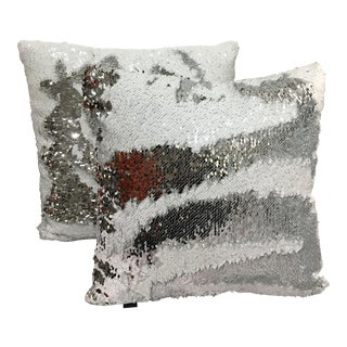 Color-Changing Sequin Pillows - A Pair