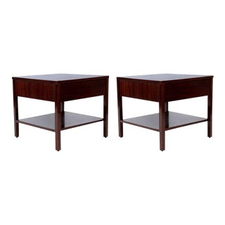 1950s Mid-Century Modern Florence Knoll Rosewood Nightstands - a Pair
