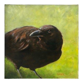 Painting of a Raven For Sale