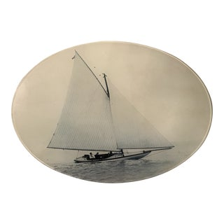 "1980s ""Sailing"" John Derian Decoupage Plate For Sale"