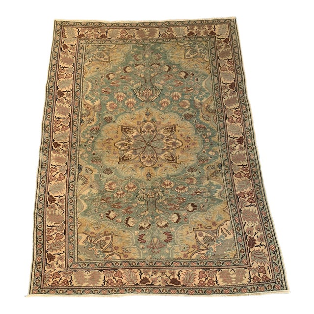 Antique Persian Area Rug- 4′9″ × 6′5″ For Sale