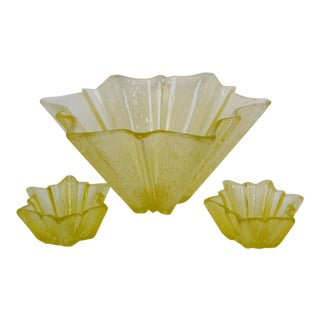 Vintage American Glass Bowls - Set of 3 For Sale