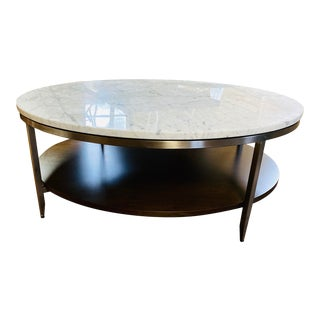 Contemporary Mitchell Gold Tribeca Round Coffee Table For Sale