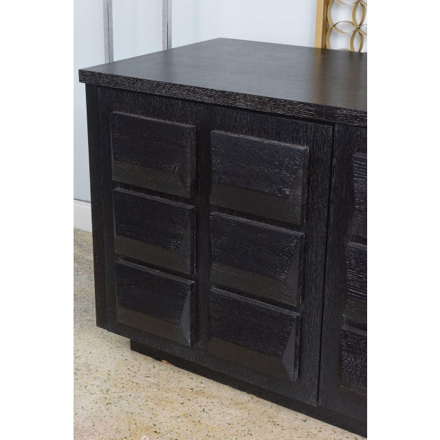 Wood Monumental Ebonized Four-Door Credenza or Buffet by Jamie Herzlinger For Sale - Image 7 of 9