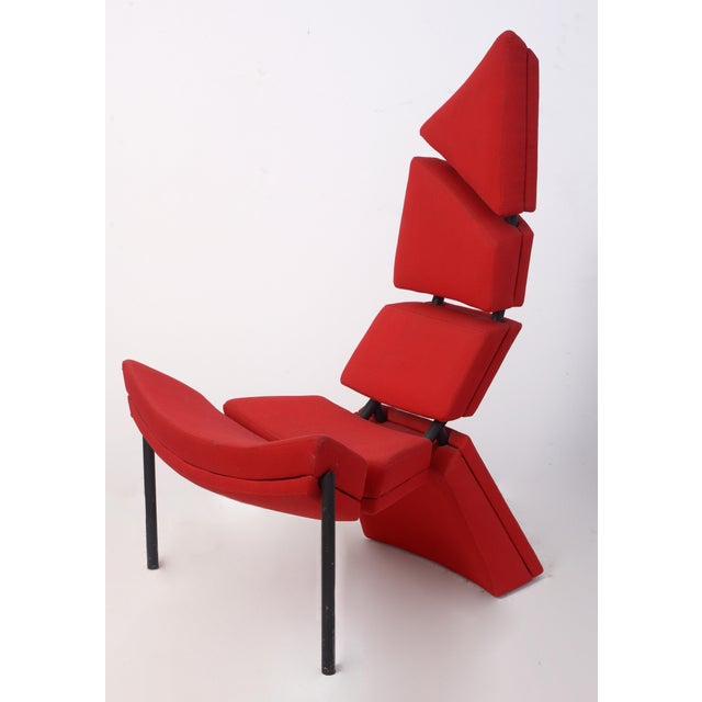 Red Sculptural Chinese Inspired Seat For Sale - Image 8 of 8