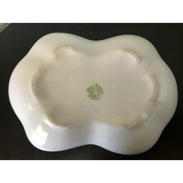 Vintage Hand Painted Butterfly Nippon Decorative Basket Catchall For Sale In Saint Louis - Image 6 of 11