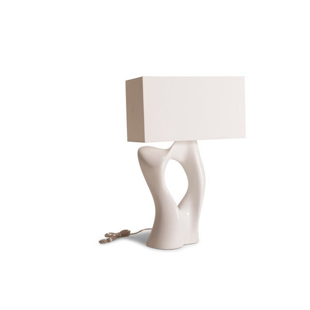 Amorph Amorph Vesta White Lacquered Table Lamp For Sale - Image 4 of 10