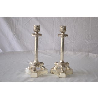 1980s American Classical Silver Fluted Candlesticks With Claw Feet - a Pair Preview