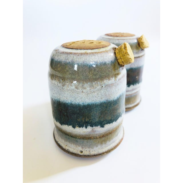 Vintage Mid-Century Stoneware Studio Pottery Salt and Pepper Shakers - a Pair For Sale In San Francisco - Image 6 of 8