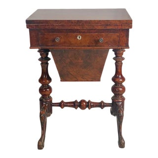 Victorian Walnut Work Table, Italy Circa 1870 For Sale