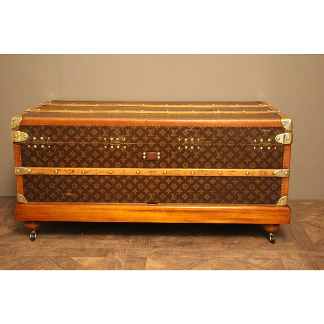 1930s Louis Vuitton Cabin Steamer Trunk For Sale - Image 11 of 13