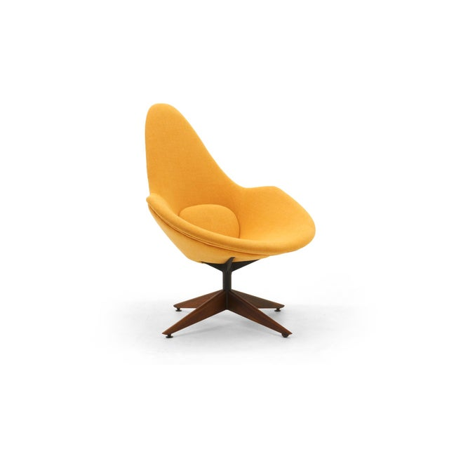 Craft Associates Adrian Pearsall Swivel Lounge Chair, Completely Restored, Very Rare For Sale - Image 4 of 11