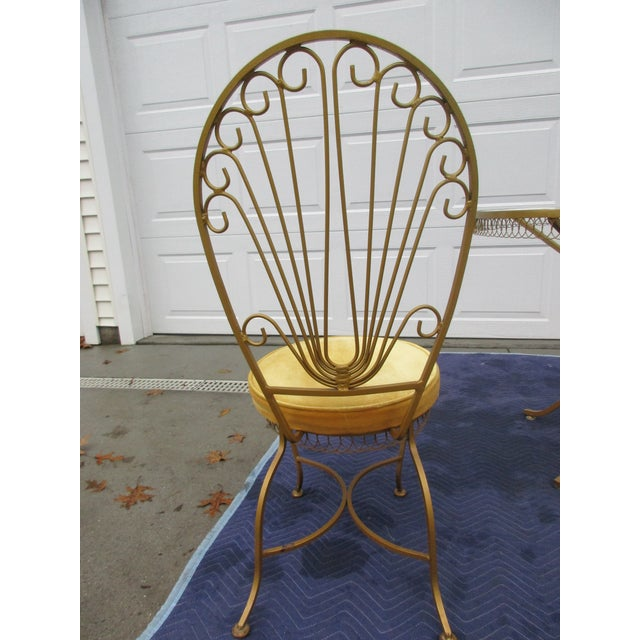Thinline Vintage Hollywood Regency Bistro or Patio Set by Thinline For Sale - Image 4 of 13