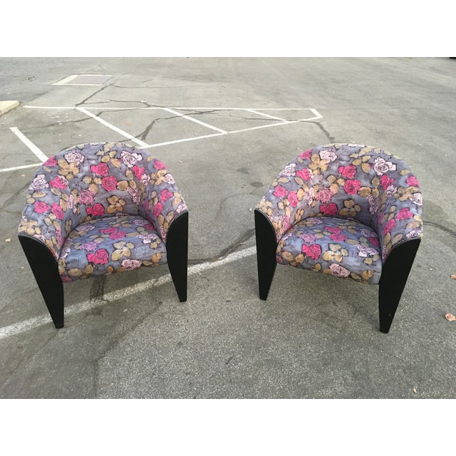 1990s Post Modern Club Chairs - a Pair For Sale - Image 10 of 10