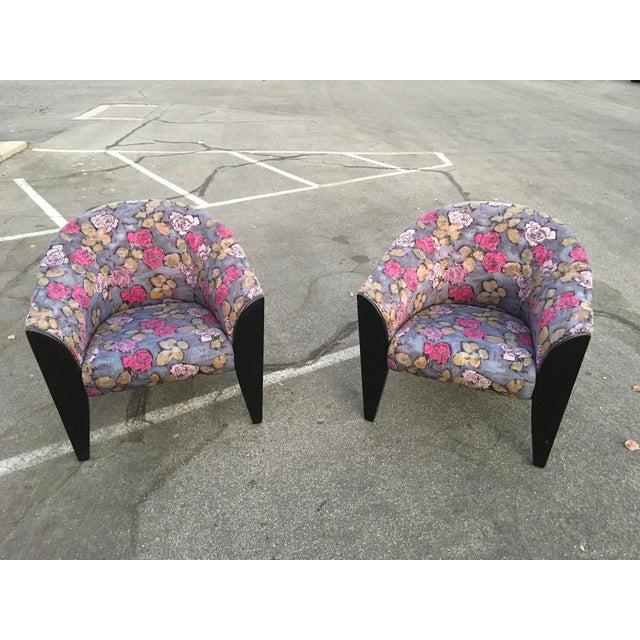1990s Vintage Dakota Jackson Post Modern Club Chairs- A Pair For Sale - Image 10 of 10