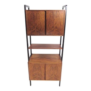 Scandinavian Rosewood Wall Cabinet For Sale