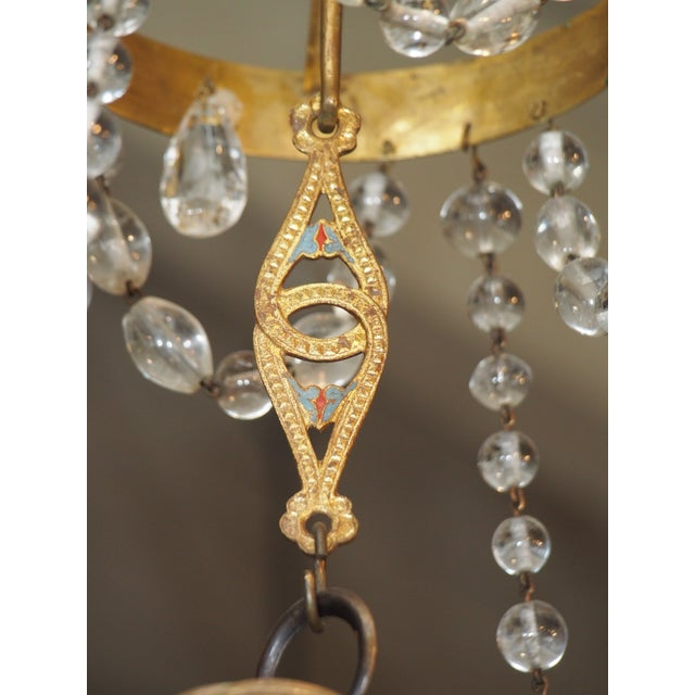 18th Century French Tole and Crystal Chandelier For Sale - Image 10 of 11