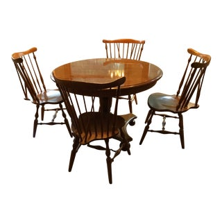 1980s Traditional Ethan Allen Dining Set - 5 Pieces For Sale